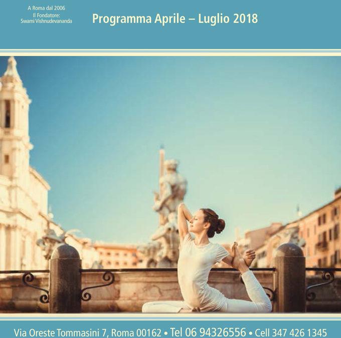Programma Aprile-Luglio 2018